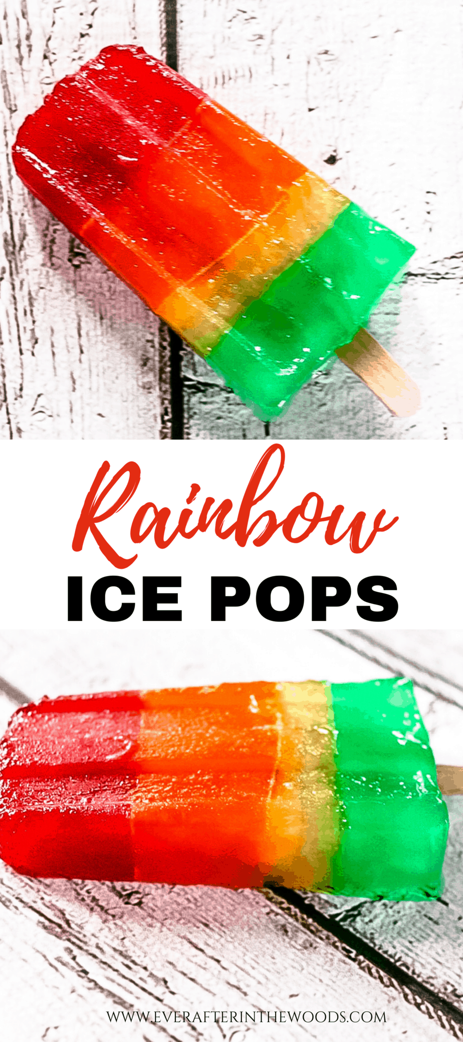 yummy Rainbow Ice Pops.