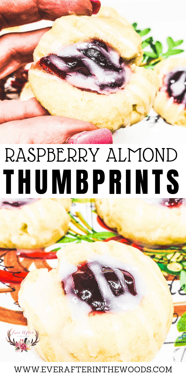 the best raspberry almond thumbprint cookie recipe
