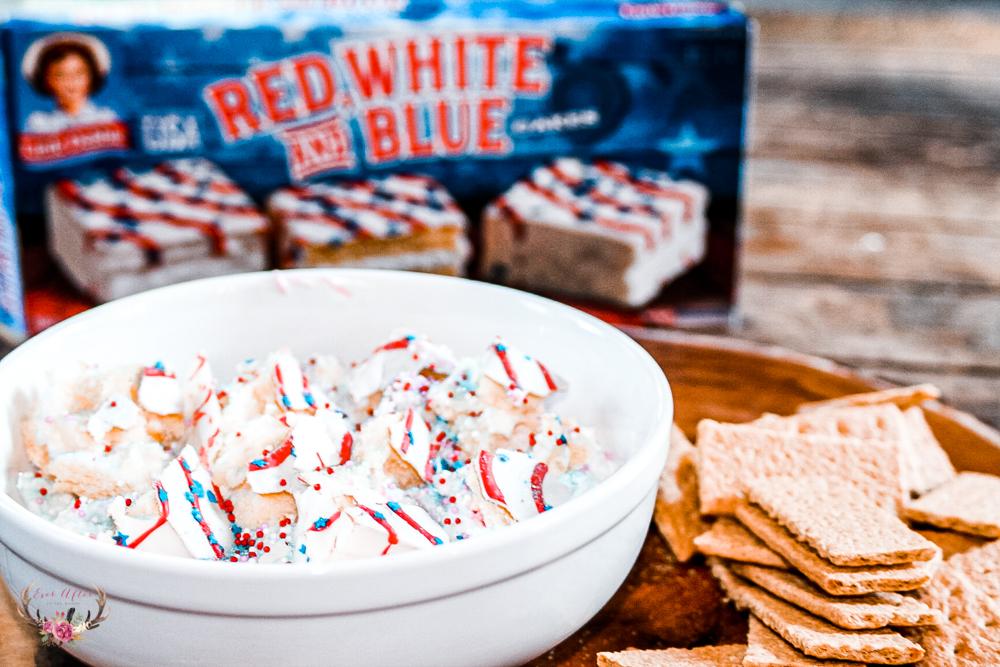 Unique Fourth of July Dessert - Red White and Blue Little Debbie Dessert Dip