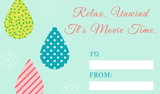 teacher gift tag movie gift card