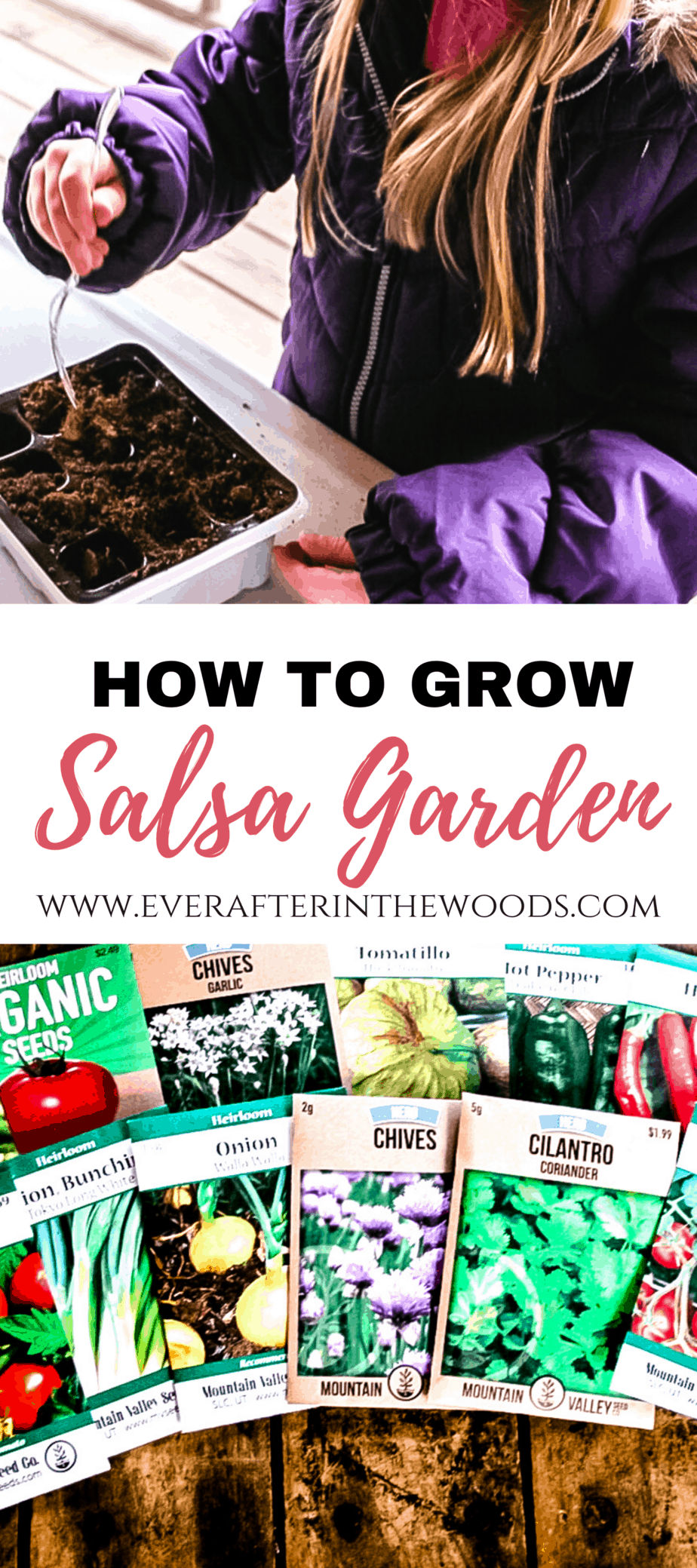 how to grow a salsa garden |indoor garden with kids | easy garden tips