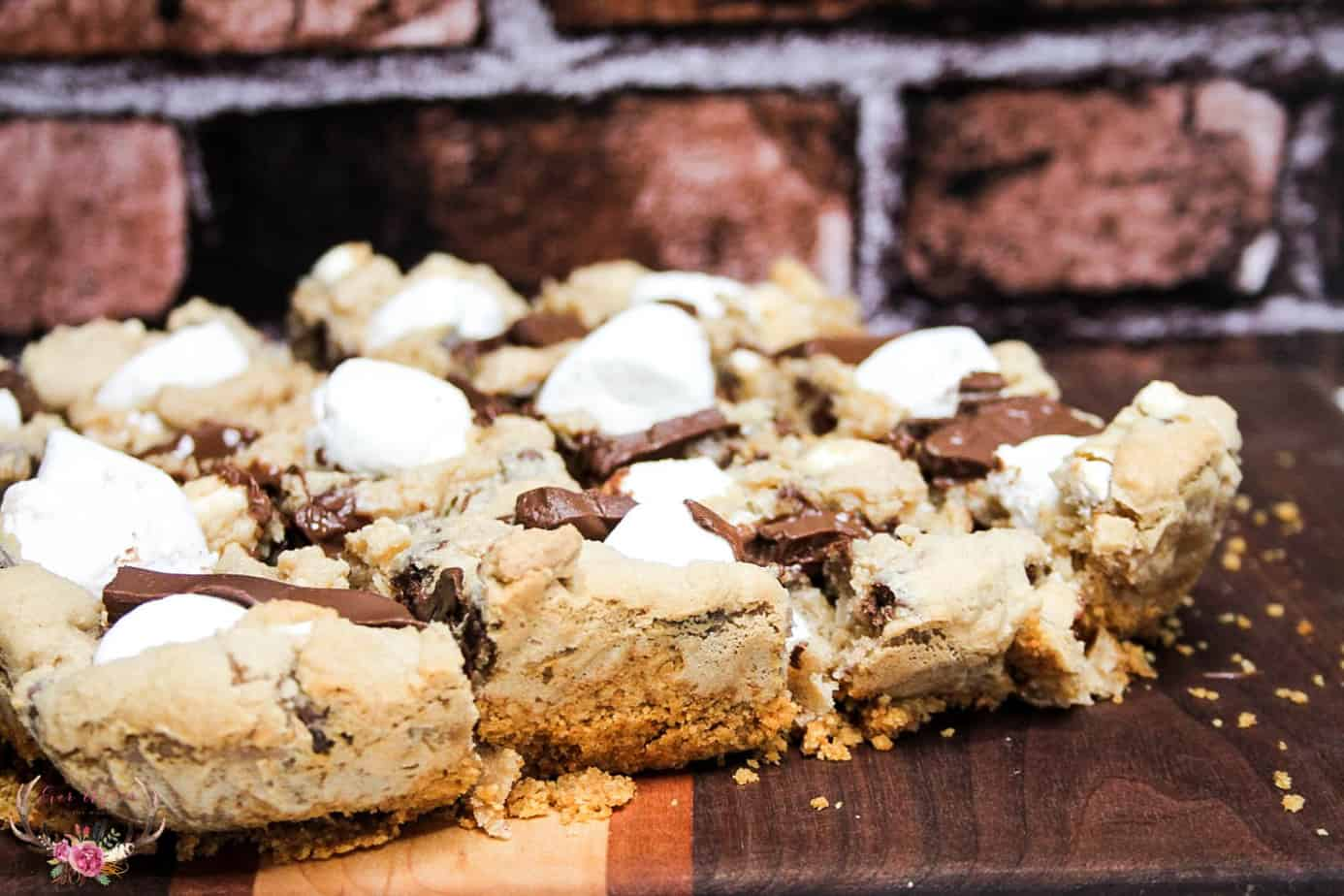 smores cookies bars