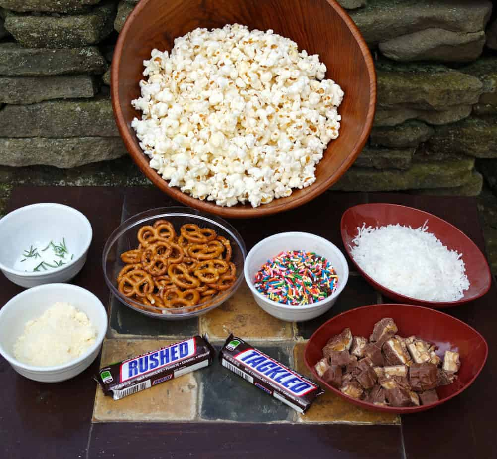 snickers-football-popcorn-buffet