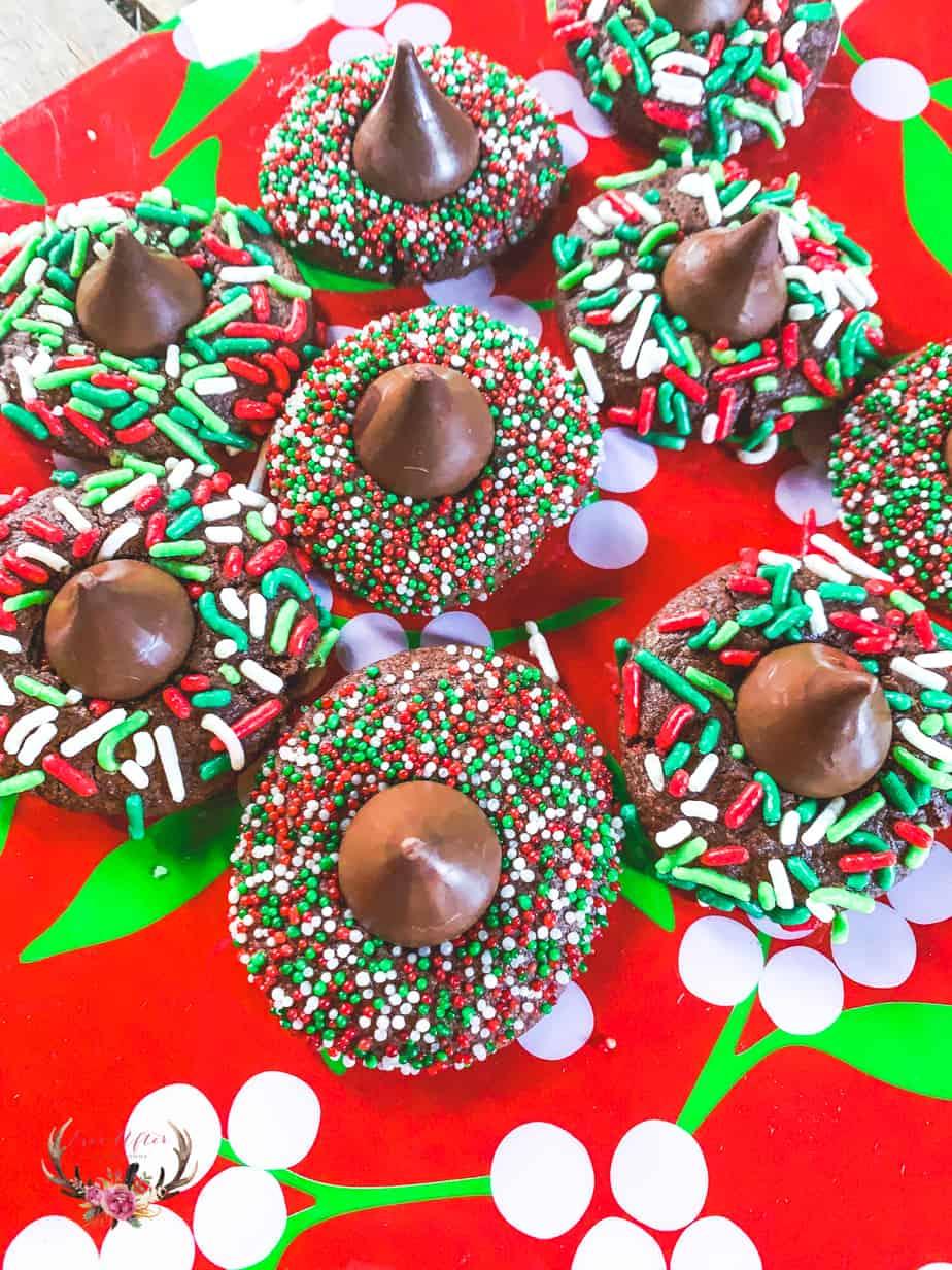 Chocolate Kiss Christmas Cookies