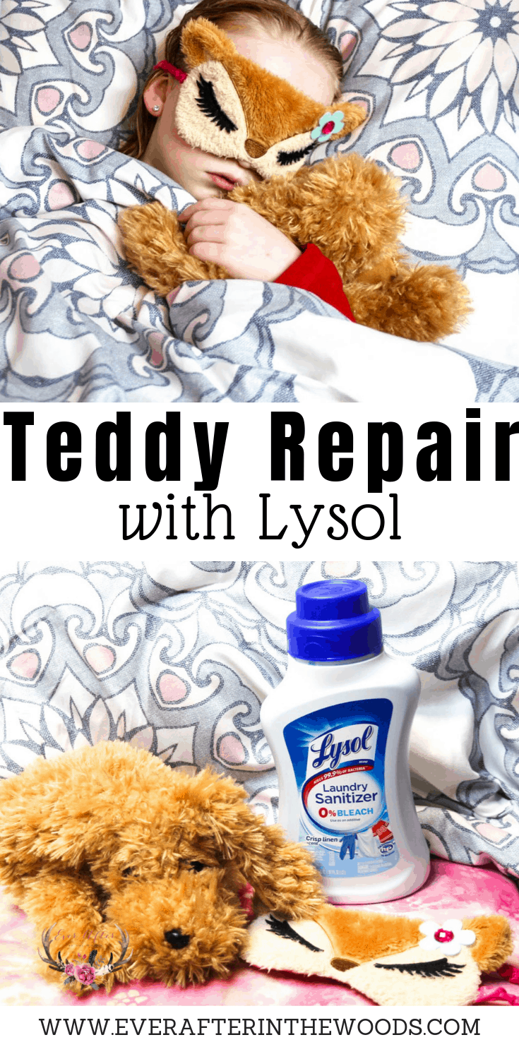 Teddy Bear Repair with Lysol #lysolteddyrepair