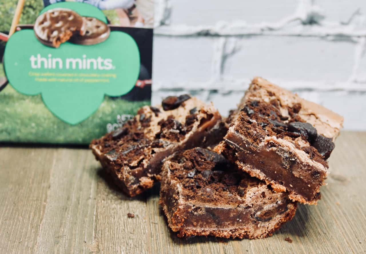 chewy fudge milk chocolate brownies thin mints