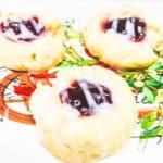 raspberry almond thumbprint cookie recipe