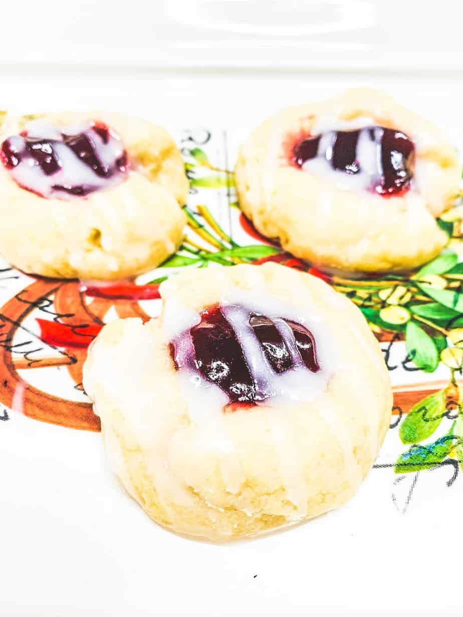 raspberry almond thumbprint cookie recipe