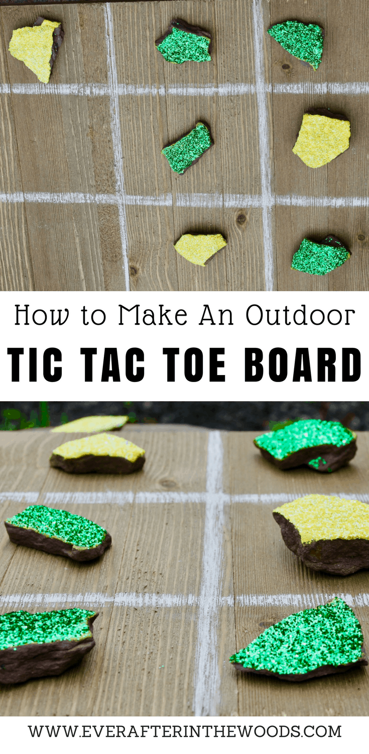 how to make an outdoor tic tac toe board