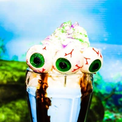 halloween monster milkshake