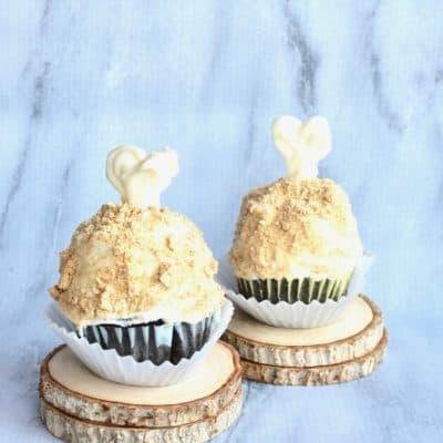 turkey leg drumstick cupcake