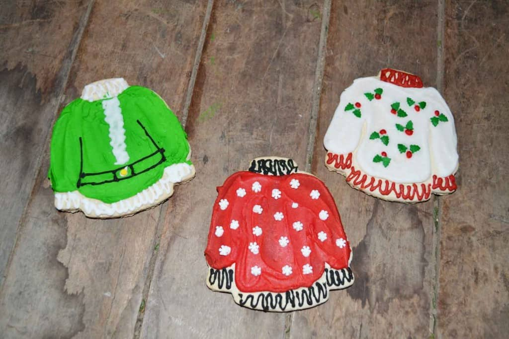 cute unique cookies holiday jumper