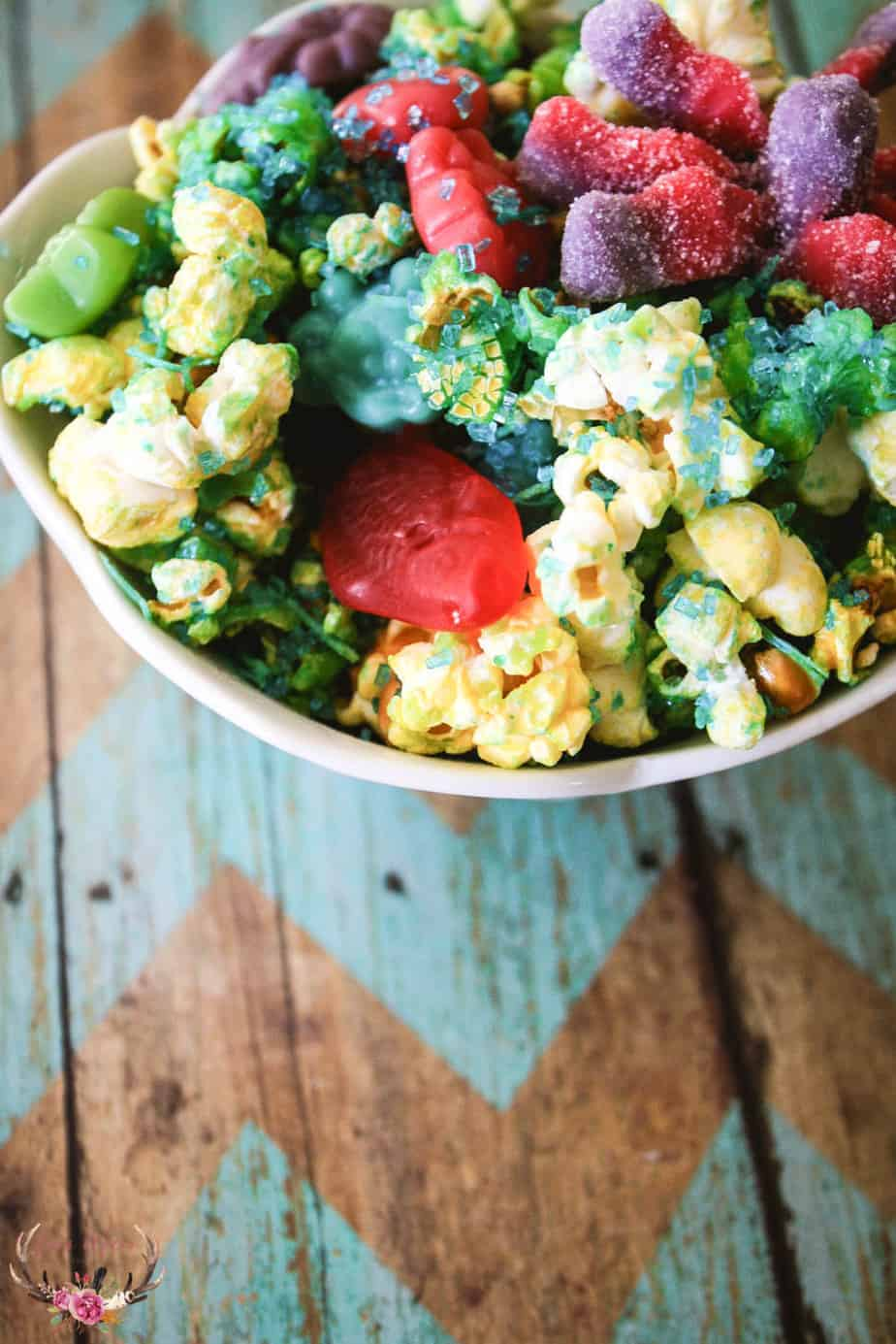 mermaid popcorn snack mix