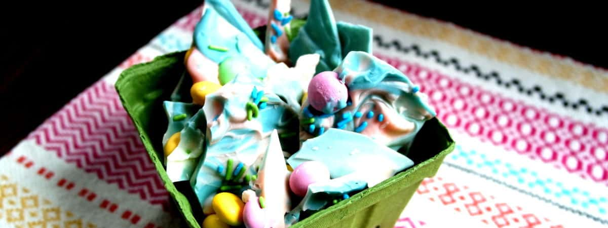 easy unicorn chocolate bark