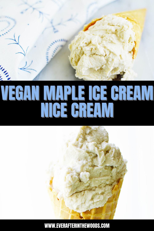 vegan maple nice cream