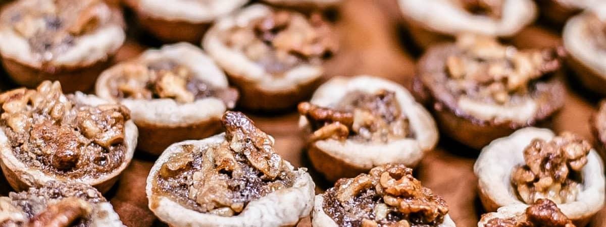 Brown Sugar Walnut Tart Cookies with cream cheese crust