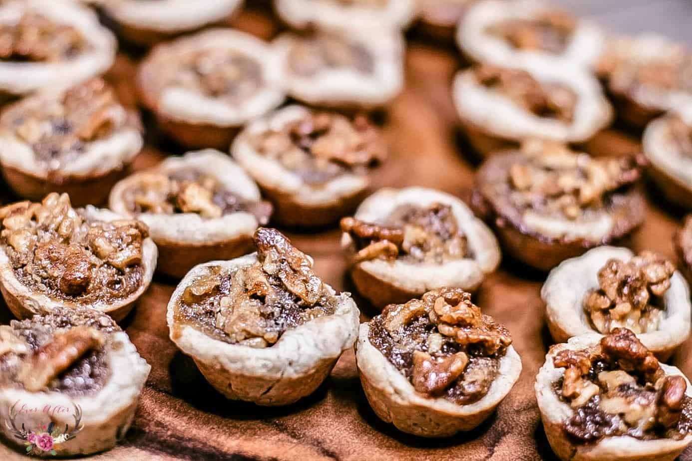 Brown Sugar Walnut Tart Cookies with cream cheese crust