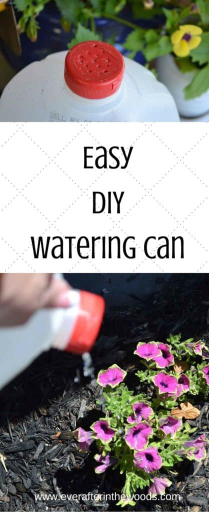 diy watering can from a milk jug life hack